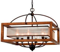 metal and wood chandelier. Iron Wood Chandelier 6 Lights 24\ Metal And