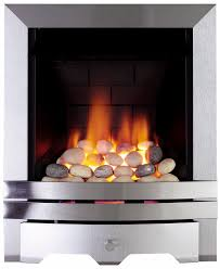 Focal Point Lulworth Brushed Stainless Steel Manual Control Inset Gas Fire