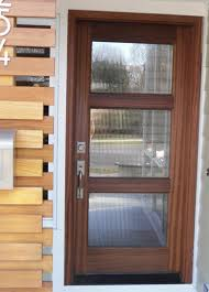 Wrong colour and no frosted glass but interesting - Wood and Glass Entry  Door - modern - front doors - other metro - by
