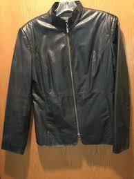 classiques entier by nordstrom black leather jacket women s size s