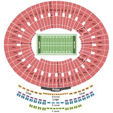 University Of Tennessee Seating Chart Rose Bowl Seating Chart Rows Seat Numbers And Club Seat Info