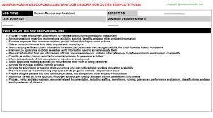 resources assistant job titlehuman resources assistant job description