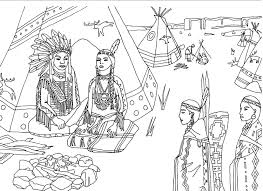 Free Coloring Page Coloring Adult Native Americans Indians Sat Front
