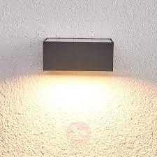 Sensor Led Buitenwandlamp Mahra Op Zonne Energie