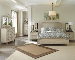 demarlos pc upholstered panel bedroom set in parchment white  ashley