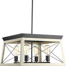 4 light graphite chandelier