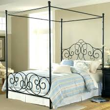 Rod Iron Canopy Bed Black Metal Canopy Bed Black Metal Canopy ...