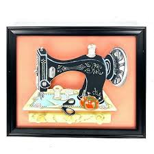 wall decor antique sewing machine art