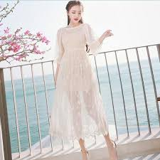 Aliexpress Com Buy Floral Embroidery Lace Dress Women Half
