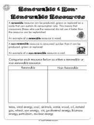 renewable and non renewable resources worksheet renewable and non renewable resources worksheet teachthisworksheet com
