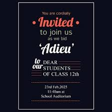 1st Birthday Party Invitation Template Free School Farewell Party Invitation Template Sample
