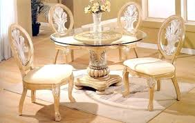 round glass top dining tables with wood base round glass top dining tables with wood base