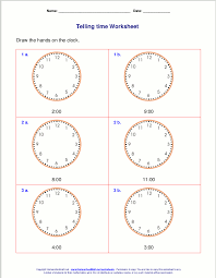 Pictures on Telling Time Worksheets Grade 1, - Easy Worksheet Ideas