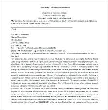Sample Parent Letter Of Recommendation Brief Teacher To