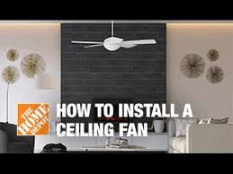 how to replace or install a ceiling fan the home depot