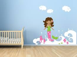 32 mermaid decals for walls mermaids under the sea giant wall decals punchbowl mcnettimages com