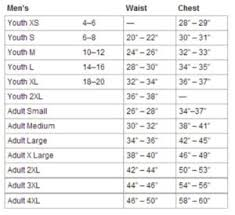 Nike Football Size Chart Football Girdle Sizing Chart High Ground Sports