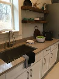 traditional open kitchen designs. Beige Eco Friendly Quartz Countertop With White Cabinet Using Open Shelves For Traditional Kitchen Ideas Designs