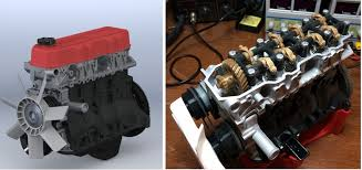 Thingiverse User Shares Files to 3D Print a Moving Toyota 4 Cylinder ...