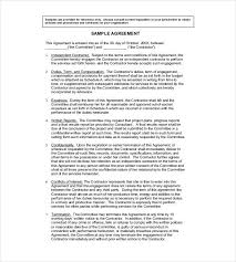 sample contract agreement simple contract agreement form telemaque info