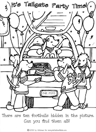 Small Picture Find the Hidden Footballs Tailgate Printables for Kids free