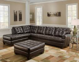 dark brown leather sectional couch 6 dark brown leather tufted sectional chaise lounge sofa with ottoman