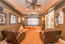 home theater designs ideas. 1 tag traditional home theater with ceiling fan, high ceiling, built-in bookshelf, wall · julie morrison design ideas designs