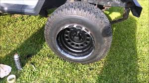 how to spray paint chrome rims black with bed liner