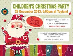 Children Holiday Party Free Flyer Template Christmas