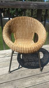N Mid Century Modern Wicker Chair From Lawn Sale