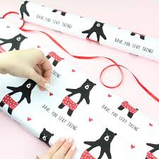 Personalised Sexy Thing Bear Wrapping Paper / Gift wrap / | Etsy