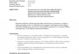 Security Guard Resume Objective Job And Template Entry Level