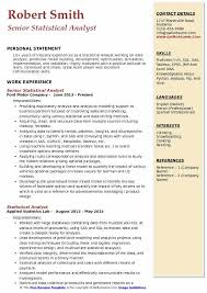 Bioinformatics Resume Sample Cool Statistical Analyst Resume Samples QwikResume
