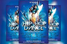 hip hop dance flyer template