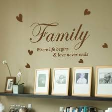 Love Wall Quotes Enchanting Family Where Life Begins Love Heart Vinyl Wall Sticker Quote Wall