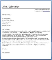 Gallery Of Electrical Engineer Cover Letter Student Resume Template