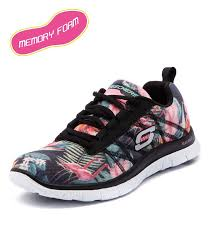 sketchers tennis shoes women. skechers flex appeal floral black/mint women shoes sneakers comfort sketchers tennis c