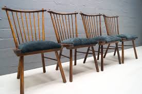 vintage wooden dining chairs 1950s set of 4