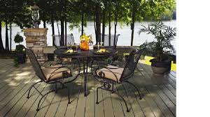 50 off meadowcraft monticello dining set wrought iron patio furniture