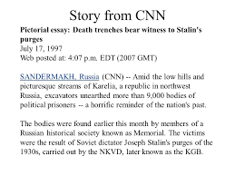 animal farm and the russian revolution ppt  story from cnn pictorial essay death trenches bear witness to stalin s purges