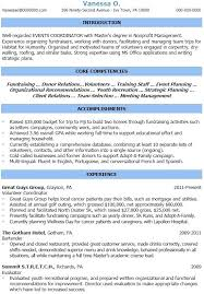 Events Manager Resume Sample Best of Event Coordinator Resume Detail Event Coordinator Resume Example