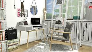 modern home office sett. Modern Office Set For The Sims 4 Home Sett
