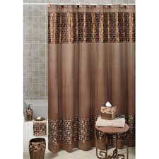 the bronze mosaic stone fabric shower curtain and hooks are a great choice for your bath because of their flexibility in complementing classical