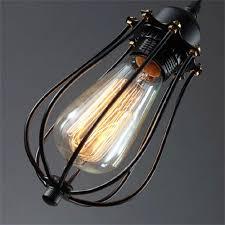 kiven vintage style pendant wire cage light hanging lamp edison light fixtures 1 light kiven lighting ping