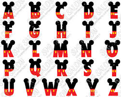 Disney Font Mouse Pants And Ears Monogram Alphabet Font Custom Diy Cutting File Set In Svg Eps Dxf Jpeg And Png Format