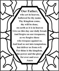 The Lords Prayer Maybe Do This With The Markercontact Paper Craft