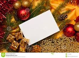 Blank Christmas Background Christmas Background With A Blank Card Stock Image Image Of