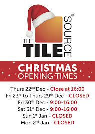 a very merry from everyone at hampshire tile warehouse please find below our opening hours for the festive period for all six of our showrooms