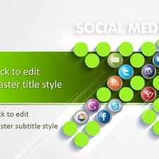 Free Social Media Digital Marketing Ppt Template Regarding Ppt