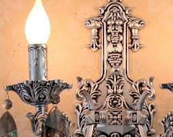 antique silver wall sconces vintage crystal wall lights led wall